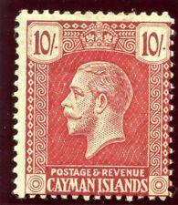 Cayman Islands 1921 KGV 10s carmine/green MLH. SG 67. Sc 68.