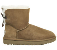 UGG Mini Bailey Bow Chestnut Suede UK 4.5 EU 37 JS40 98 SALEw