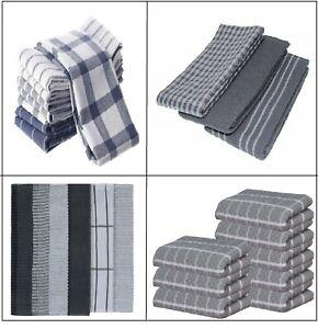 Multi Pack 100%Egyptian Cotton Jumbo Terry Tea Towels Kitchen Towel Hanging Loop