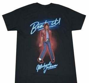 New Michael Jackson Beat It 1982 Tour Retro Vintage Mens T-Shirt