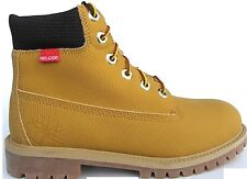 """Junior Childrens Boys Timberland Wheat Helcor Waterproof 6"""" 6 Inch Boots Size 4"""