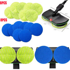 16Pcs Replacement Sweeper Pad 16cm for Cordless Electric Rotary Mop Sweeper Scru