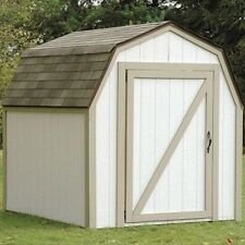 Storage Shed Kit Outdoor Garden Tool Home Backyard Lawn Barn Style Roof White