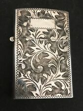 Magnificent Vintage Sterling Silver Lighter Spectacular Hand Engraving