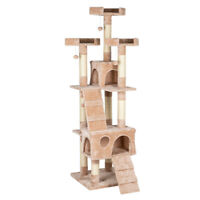 "66"" Sisal Hemp Cat Tree Tower Condo Furniture Scratch Post Pet House Play Kitten"