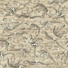 QT Jurassic Jungle 24329 K Stone Dinosaur Skeletons FREE US SHIP Cotton BTY