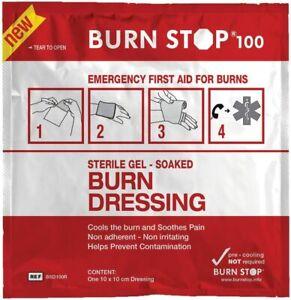 L@@K Burn Stop First Aid Burn Gel Wound Dressing 10 x 10cm Burnstop Wound Aid !!