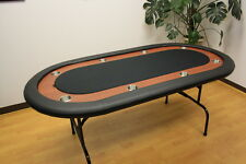 "72"" Texas Holdem Poker Table Folding Legs Black Color Felt"