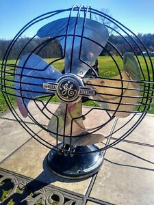 "Rare General Electric Vortalex 12"" 3 Speed Metal Osculating Fan"