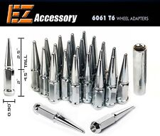 """20 Pc Solid Steel Spike Lug Nuts Kit 