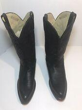 MENS DURANGO Size 8 1/2 M Black Leather Cowboy Work Casual Boots #B038