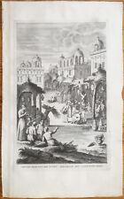Calmet: Large Folio Print Judaism Jews Feast of Booths - 1725