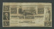 More details for united states james river & kanawha co $5 virginia banknotes