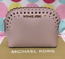 New Michael Kors Violet CindyTravel Pouch/Cosmetic Case in Blossom/Ballet $88