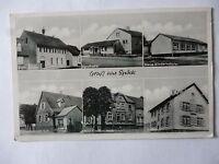 Ansichtskarte Spöck bei Karlsruhe Kirche Apotheke Kinderschule Schreibwaren ....