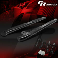 "BLACK 4"" OVAL STEP NERF BAR RUNNING BOARD KIT FOR 04-14 FORD F-150 EXTENDED CAB"