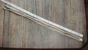 vintage zipperAERO 2 way gold teeth light green 20 21 inch zip