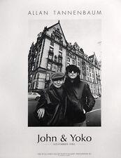 Beatles John Lennon Yoko Ono Dakota Hotel Allan Tannenbaum Photograph LE Poster
