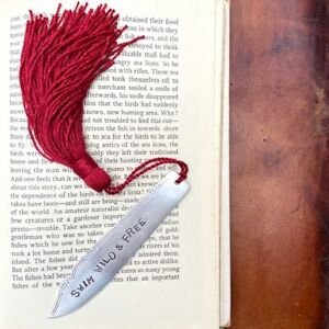 Swim Wild & Free Handcrafted Upcycled Antique Silver Plated Fish Knife Bookmark