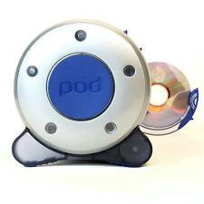 POD CD DVD Storage Unit Holder Organiser RETRO Media 60 Disc Blue Black Grey VGC