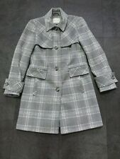 George wool blend  Winter Grey & White Check Coat Size 10