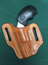 "NAA .22 Magnum ""Black Widow"" or ""PUG"", Belt Slide Type OWB Leather Holster"