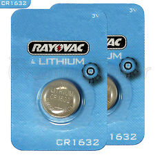 2 x Rayovac CR1632 batteries Lithium 3V Coin Cell BR1632 KRC1632 DL1632