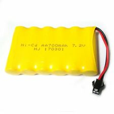 7.2V 700mAh Ni-Cd AA Battery Pack SM 2P Plug for Toys, Lighting, Electric Tools