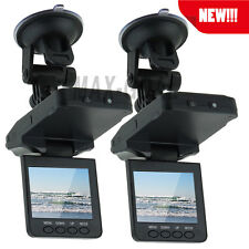 "2PCS 120° 2.5"" TFT LCD Auto Car DVR Camera Video Recorder Night Vsion US Deliver"