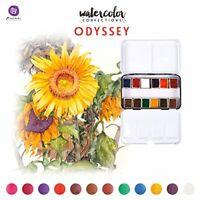 Prima Watercolour Confections Water Colour Paints, 12 Pan Set - Odyssey