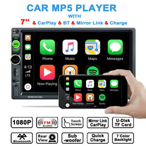 7in 2DIN Car MP5 Player Bluetooth Touch Screen Stereo Radio AUX FM With Camera
