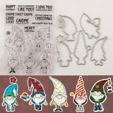 CLEAR STAMPS and CUTTING DIES*Five*DWARF*GNOMES*CHRISTMAS*Birthday*Cards*Topper*