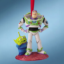 NEW 2010 DISNEY STORE Toy Story Buzz Lightyear Space Alien Christmas Ornament
