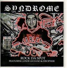 (535D) Rock Da Spot, Syndrome - DJ CD