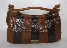 LOVELY Vintage Brown Pelle di serpente e del cuoio SHOULDER BAG