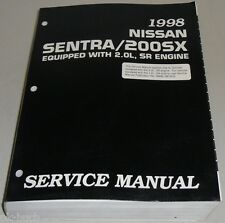 Workshop Manual/Service Manual Nissan Sentra/200SX B14 SR20DE 67.6oz 1998