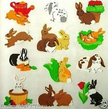 **3 Squares** Sandylion BUNNY RABBITS Scrapbooking Stickers *FAST SHIP* G31