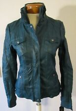 NWT Guess Womens Faux Leather Motorcycle Jacket M Rich Teal MSRP$139