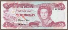 1974 (84) BAHAMAS 3 DOLLAR NOTE UNC