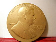 USA MÉDAILLE BRONZE UNITED STATES PRESIDENT INAUGURATION HERBERT HOOVER