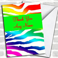 Arco iris Cebra Animal Print gracias Tarjeta Personalizada