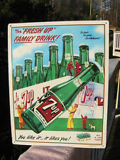 7Up Fresh Up Family Drink Reproduction Advertising Metal Sign Retro Decor 1993