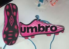 Umbro Soccer Pink and Black Cleats