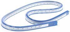 """COX 60 cm 24"""" Vinile Plastica Flessibili Curva Righello Disegno Disegno French Curve"""