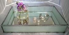 GISELA GRAHAM*Mirror Vanity Table Tray*Frame 'Art Deco' Glass*Trinket/Jewellery
