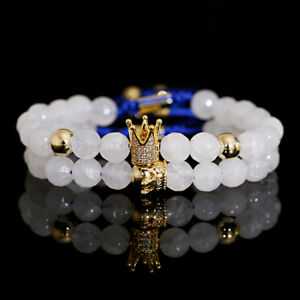 Couple King His And Her Queen Crown Bracelets Friendship Hand Adjust Bracelets