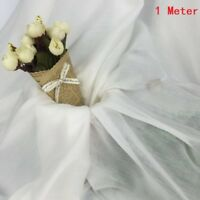 Silk Cotton Lining Fabric Material Dress Costume Crafts Thin Soft White By Metre