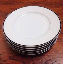 """Set 6 Porcelaine Lafarge Limoges France Silver Spoon Floreal 6.5"""" Dessert Plates"""