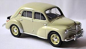 Renault 4 Cv Limousine Cremeschnittchen 1946-61 Light Gray Light 1:43