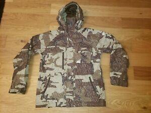 Burton Ronin ALS BROWN CAMO Hooded Jacket Coat Snowboard Ski Winter Warm MEDIUM